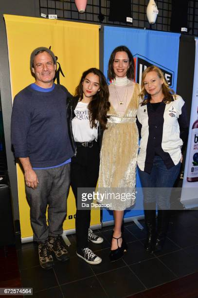 Dito Montiel Quinn Shephard Rebecca Hall and Samantha Mathis attend the SAGindie Party during the 2017 Tribeca Film Festival at Lucky Strike on April...