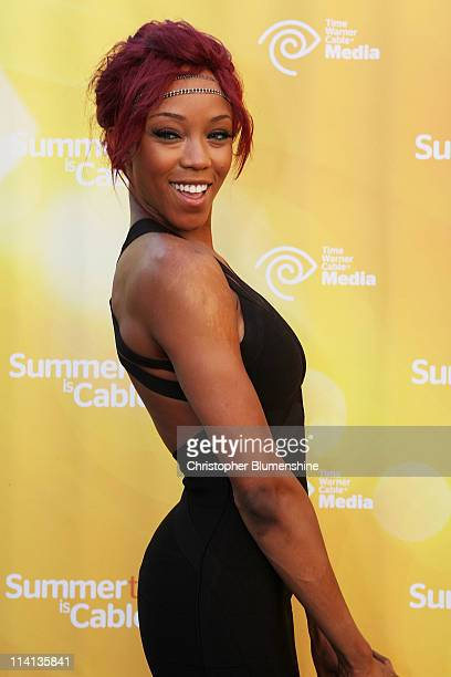 Diva Alicia Fox attends the Time Warner Cable Media Upfront Event 'Summertime Is Cable Time' on May 12 2011 in Dallas Texas
