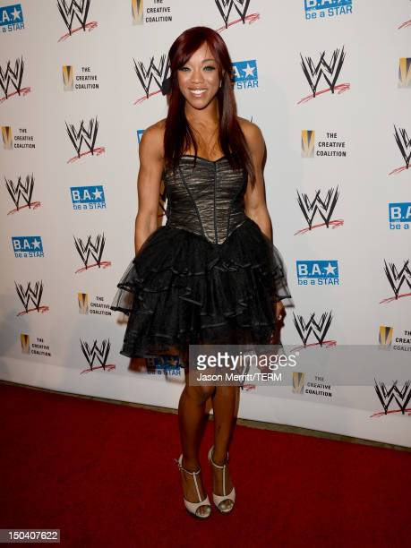 Diva Alicia Fox attends the WWE SummerSlam VIP KickOff Party at Beverly Hills Hotel on August 16 2012 in Beverly Hills California