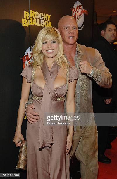 Diva and Johnny Brenden during Rocky Balboa Las Vegas Premiere Red Carpet Arrivals at The Aladdin/Planet Hollywood Hotel and Casino Resort at...