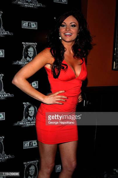 WWE Diva and Playboy cover girl Maria attends the first McMahon Million Dollar Mania winners announcement on June 12 2008 at the Hard Rock Cafe in...