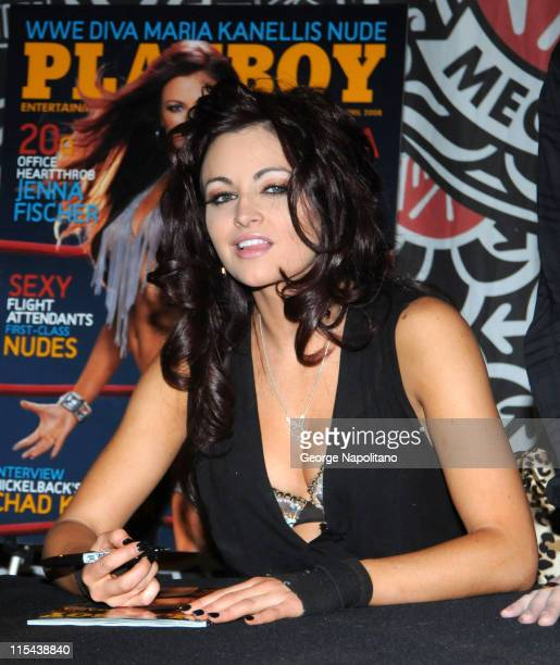 Diva and Playboy model Maria appears on March 6, 2007 at Virgin Megastore in Times Square, New York City.