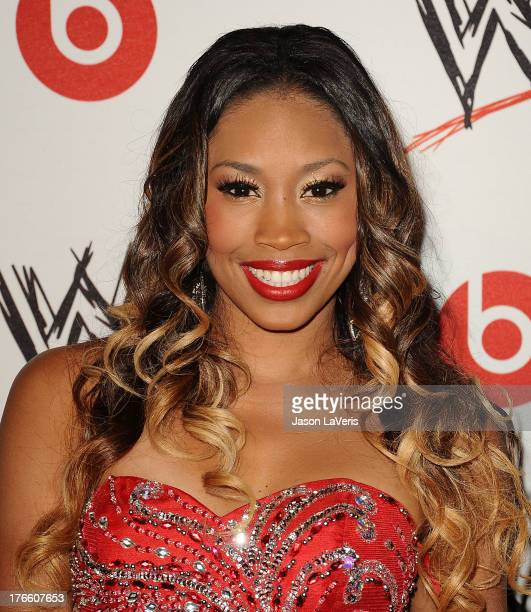 Diva Ariane Andrew aka Cameron attends the WWE SummerSlam VIP party at Beverly Hills Hotel on August 15, 2013 in Beverly Hills, California.