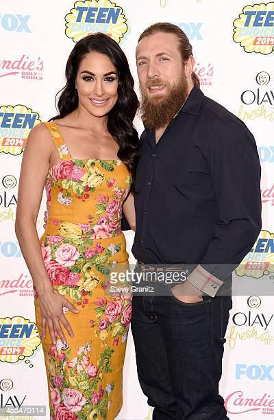 Diva Brie Bella and WWE Superstar Daniel Bryan attend FOX's 2014 Teen Choice Awards at The Shrine Auditorium on August 10, 2014 in Los Angeles,...