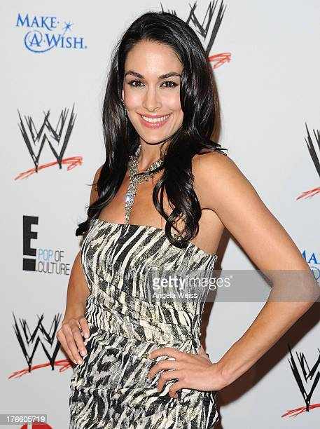 Diva Brie Bella arrives at WWE and E Entertainment's 'Superstars For Hope' at Beverly Hills Hotel on August 15 2013 in Beverly Hills California