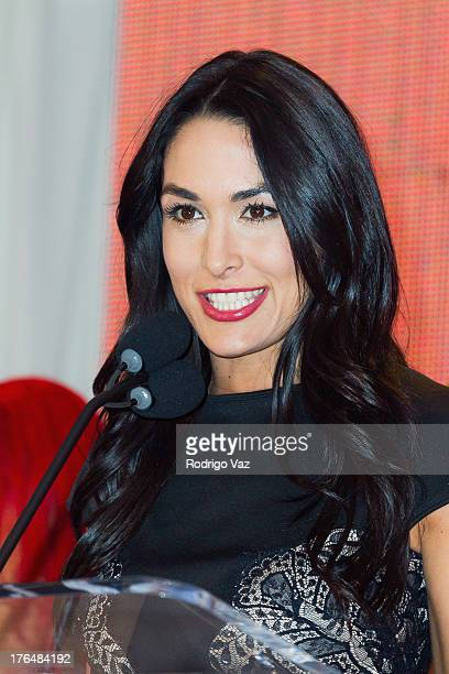 Diva Brie Bella attends the WWE SummerSlam Press Conference at Beverly Hills Hotel on August 13 2013 in Beverly Hills California