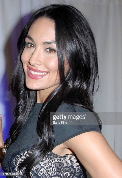 Diva Brie Bella attends the WWE SummerSlam Press Conference on August 13 2013 at the Beverly Hills Hotel in Beverly Hills California