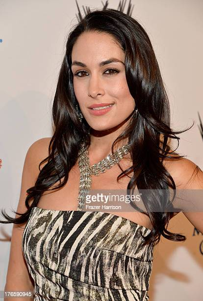 Diva Brie Bella attends WWE E Entertainment's 'SuperStars For Hope' at the Beverly Hills Hotel on August 15 2013 in Beverly Hills California
