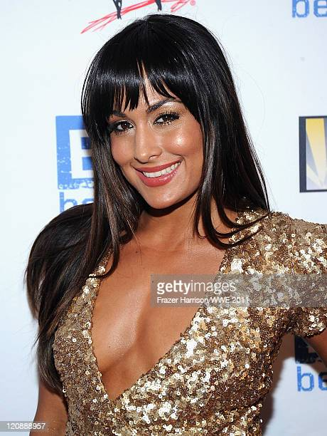 WWE Diva Brie Bella attends WWE's and Creative Coalition's 'be A STAR' Summer Event hosted by Kellan Lutz at the Andaz Hotel on August 11 2011 in...