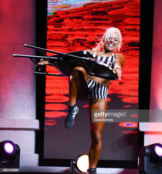 Diva Dana Brooke aka Ashley Sebera competes in the Fitness International Category at the Arnold Sports Festival 2015 Day 2 on March 6, 2015 in...