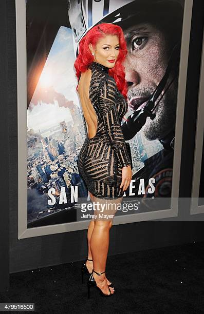 Diva Eva Marie Arrives At The San Andreas Los Angeles Premiere At Tcl Chinese