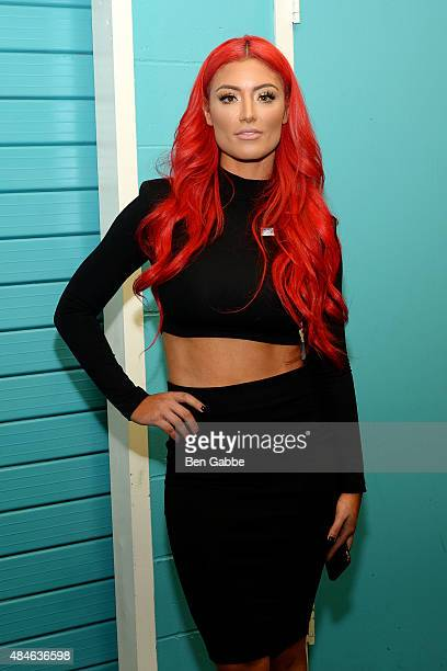 WWE diva Eva Marie attends the WWE Facebook Dosomethingorg and GLAAD AntiBullying Event at Kips Bay Boys Girls Club on August 20 2015 in New York City