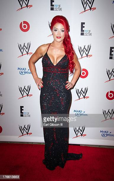 Diva Eva Marie attends the WWE SummerSlam VIP Party at Beverly Hills Hotel on August 15 2013 in Beverly Hills California