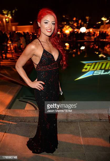 """Diva Eva Marie attends WWE & E! Entertainment's """"SuperStars For Hope"""" at the Beverly Hills Hotel on August 15, 2013 in Beverly Hills, California."""