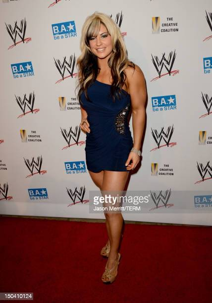Diva Kaitlyn attends the WWE SummerSlam VIP KickOff Party at Beverly Hills Hotel on August 16 2012 in Beverly Hills California