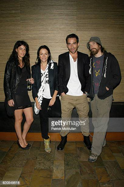 Diva Kelly Cutrone Barlas Baylor and Jimmy Boyle attend HINT MAG SEVEN End of Fashion Week Party at Tribeca Grand Hotel on September 11 2008 in New...