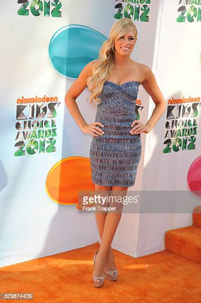 WWE Diva Kelly Kelly arrives at Nickelodeon's 25th Annual Kids' Choice Awards held at the Galen Center