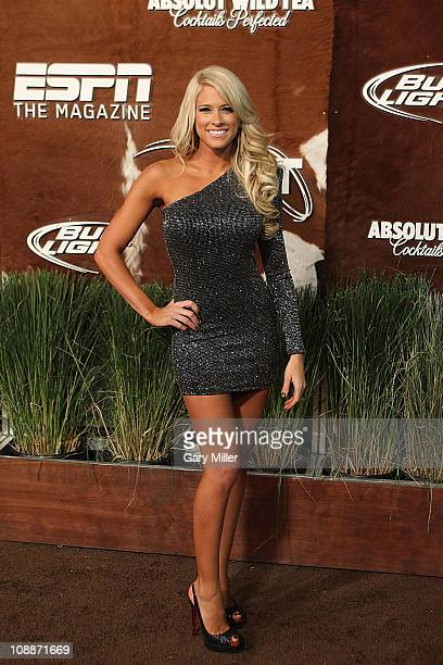 Diva Kelly Kelly arrives on the red carpet for ESPN The Magazine's NEXT Party at Next Ranch on February 4 2011 in Fort Worth Texas