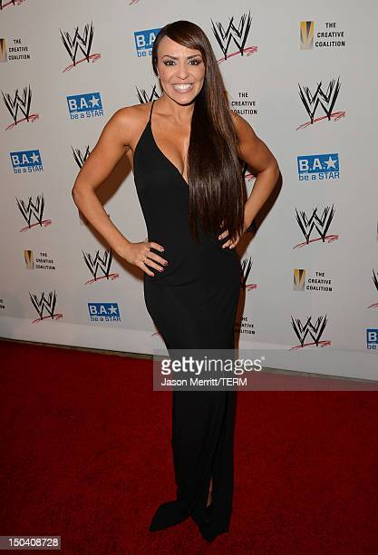 Diva Layla attends the WWE SummerSlam VIP KickOff Party at Beverly Hills Hotel on August 16 2012 in Beverly Hills California
