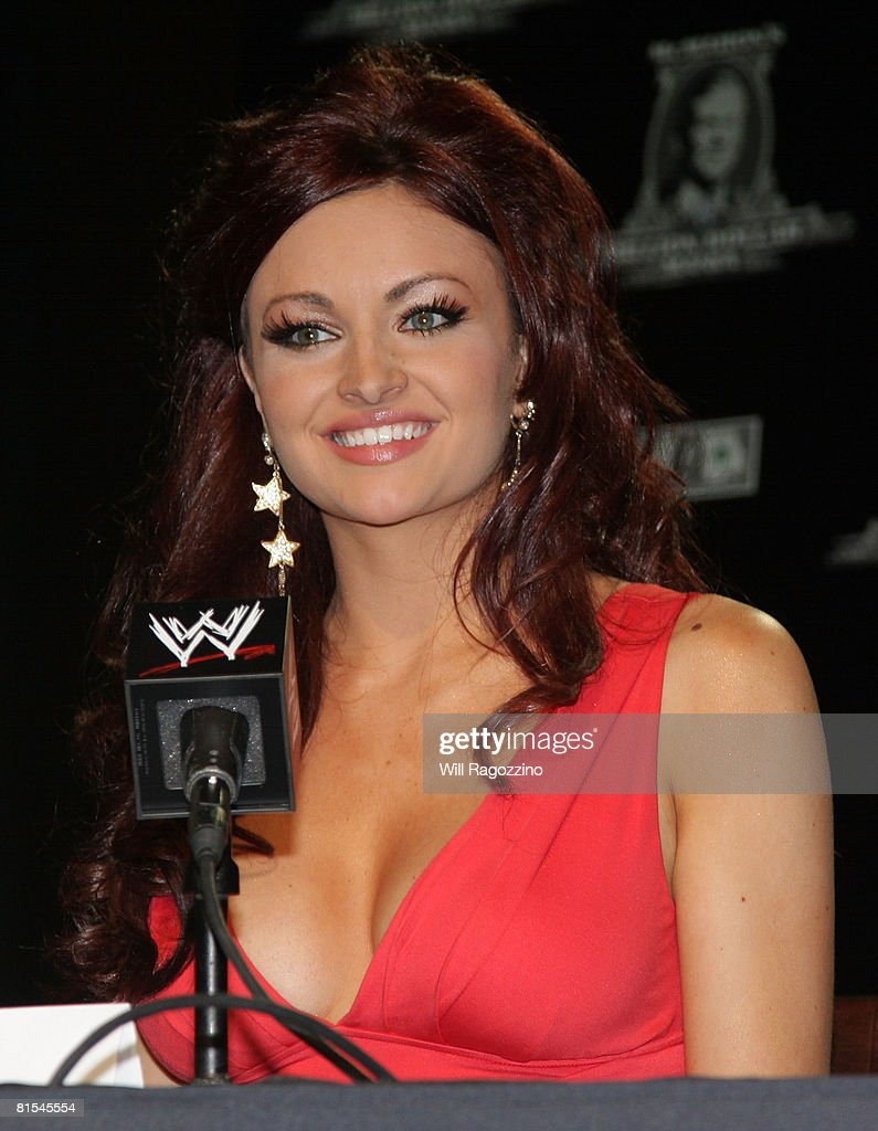Diva Maria attends the announcement of the First McMahon Million Dollar Mania Winners at the Hard Rock Cafe June 12, 2008 in New York City.