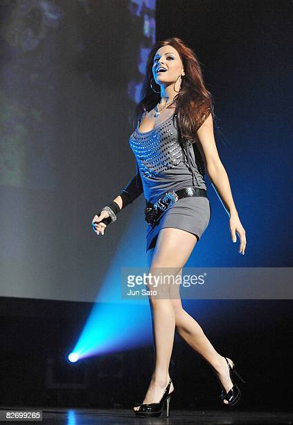 Diva Maria Kanellis attends the WWE Summer Slam Tokyo viewing party at Shinagawa Prince Hotel Stellar Ball on September 7 2008 in Tokyo Japan