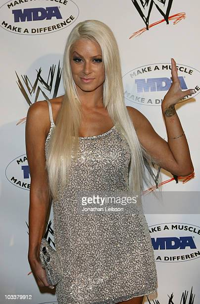 Diva Maryse arrives for the WWE SummerSlam KickOff Party at Tropicana Bar at The Hollywood Rooselvelt Hotel on August 13 2010 in Hollywood California
