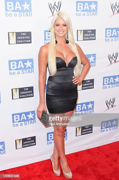 Diva Maryse Ouellet arrives at the WWE SummerSlam kick off party on August 11 2011 in West Hollywood California