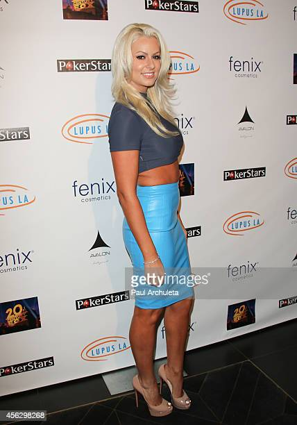 Diva Maryse Ouellet attends the 'Get Lucky For Lupus LA' celebrity poker tournament at Avalon on September 18 2014 in Hollywood California