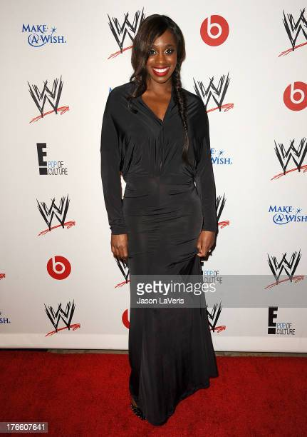 Diva Naomi Knight attends the WWE SummerSlam VIP party at Beverly Hills Hotel on August 15 2013 in Beverly Hills California