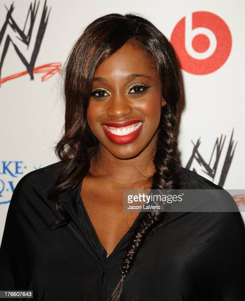 Diva Naomi Knight attends the WWE SummerSlam VIP party at Beverly Hills Hotel on August 15, 2013 in Beverly Hills, California.