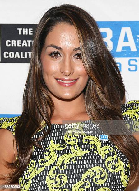 Diva Nikki Bella attends a 'Be A STAR' Bullying Prevention Rally presented by WWE And The Creative Coalition at James Madison Middle School on...