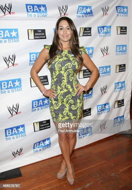 Diva Nikki Bella attends the 'Be A STAR' bullying prevention rally hosted by WWE and the Creative Coalition at James Madison Middle School on...