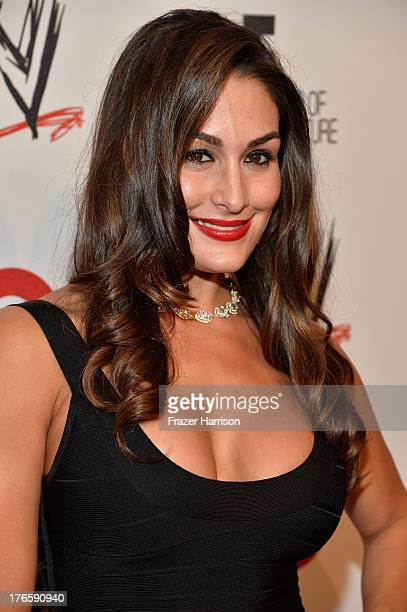 Diva Nikki Bella attends WWE E Entertainment's 'SuperStars For Hope' at the Beverly Hills Hotel on August 15 2013 in Beverly Hills California