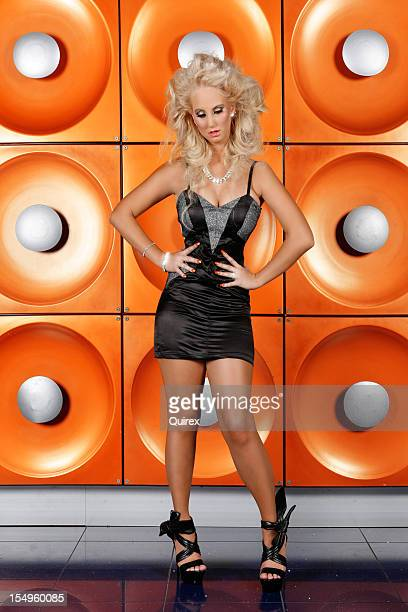 Diva on orange background