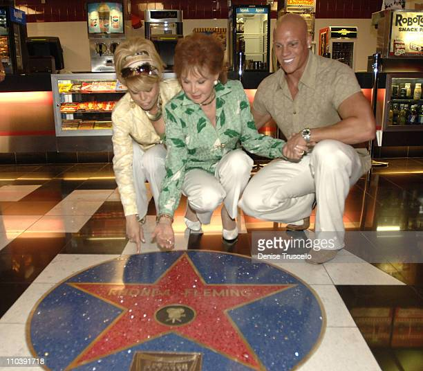 Diva Rhonda Fleming and Johnny Brenden during CineVegas Film Festival 2005 Rhonda Fleming Recieves Brenden Celebrity Star at Brenden Theatres in Las...