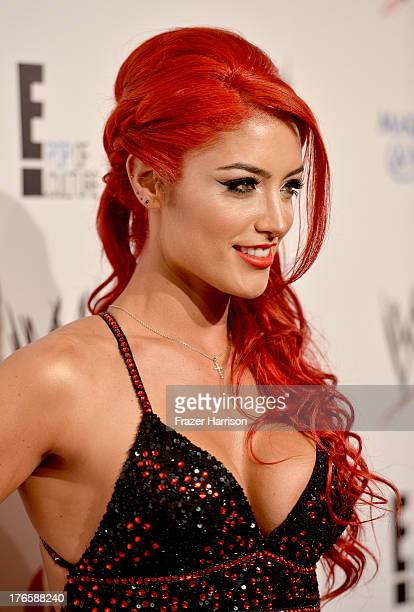 Diva star Eva Marie attends WWE E Entertainment's 'SuperStars For Hope' at the Beverly Hills Hotel on August 15 2013 in Beverly Hills California