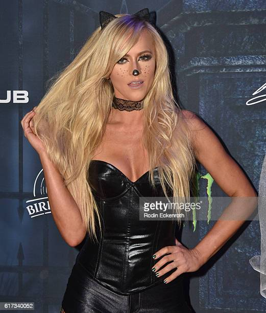 Diva Summer Rae arrives at The 2016 MAXIM Halloween Party produced by Karma International where guests sipped on CÎROC Mango Tequila Don Julio Blanco...