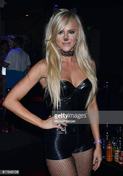 Diva Summer Rae attends The 2016 MAXIM Halloween Party produced by Karma International where guests sipped on CÎROC Mango Tequila Don Julio Blanco...