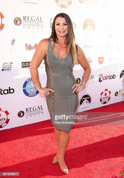Diva Victoria attends the 5th Annual Variety Texas Hold 'Em poker tournament benefiting The Children's Charity Of SoCal at Paramount Studios on July...