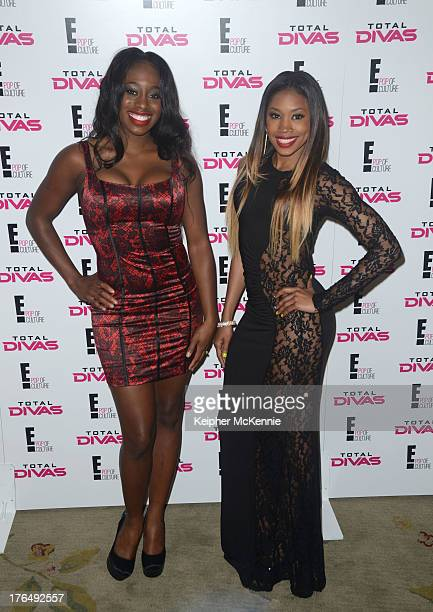 WWE Divas Naomi and Cameron arrive to the WWE SummerSlam press Conference at Beverly Hills Hotel on August 13 2013 in Beverly Hills California