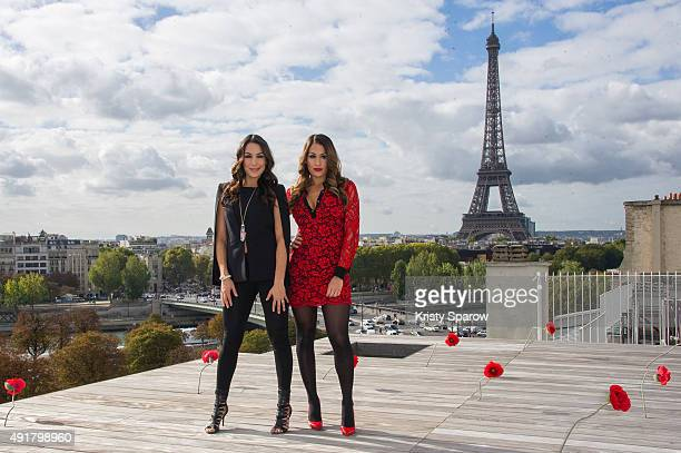total divas paris photocall at la maison blanche stock photos and pictures getty images. Black Bedroom Furniture Sets. Home Design Ideas