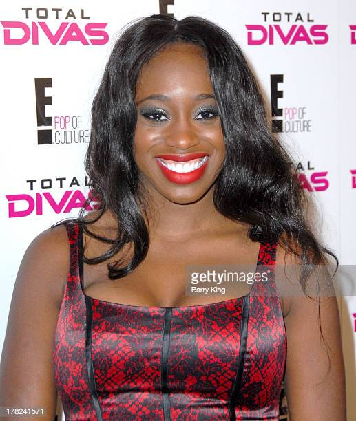 Diva/wrestler Naomi aka Trinity McCray attends the WWE SummerSlam Press Conference on August 13 2013 at the Beverly Hills Hotel in Beverly Hills...