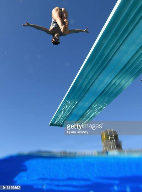 A diver from New Zealand trains at the Optus Aquatic Centre on day four of the Gold Coast 2018 Commonwealth Games on April 8 2018 on the Gold Coast...