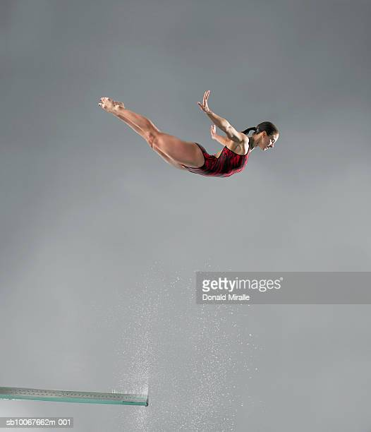 Diver in mid-air