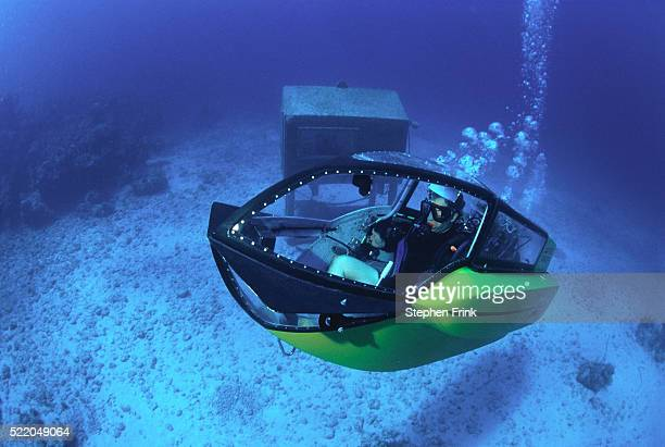 diver in submarine - submarine stock pictures, royalty-free photos & images