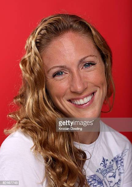 Diver Laura Wilkinson of the United States poses in the NBC Today Show Studio at the Beijing 2008 Olympic Games on August 18 2008 in Beijing China