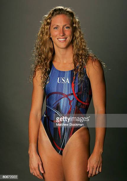Diver Laura Wilkinson poses for a portrait during the 2008 US Olympic Team Media Summitt at the Palmer House Hilton on April 14 2008 in Chicago...