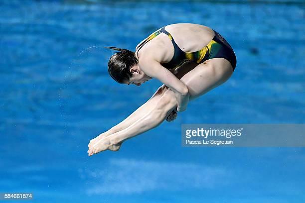 Diver Maddison Keeney of Australia practices at Maria Lenk Aquatics Centre on July 29 2016 in Rio de Janeiro Brazil