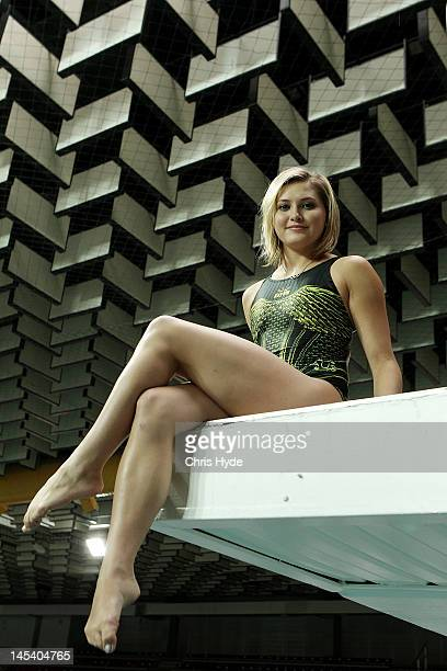 Diver Melissa Wu poses after the Australian 2012 Olympic Games team announcement at Chandler Aquatic Centre on May 29 2012 in Brisbane Australia