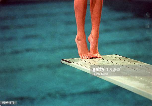 A diver on the edge of a diving board 8 May 1998 AFR GENERIC Picture by JESSICA HROMAS